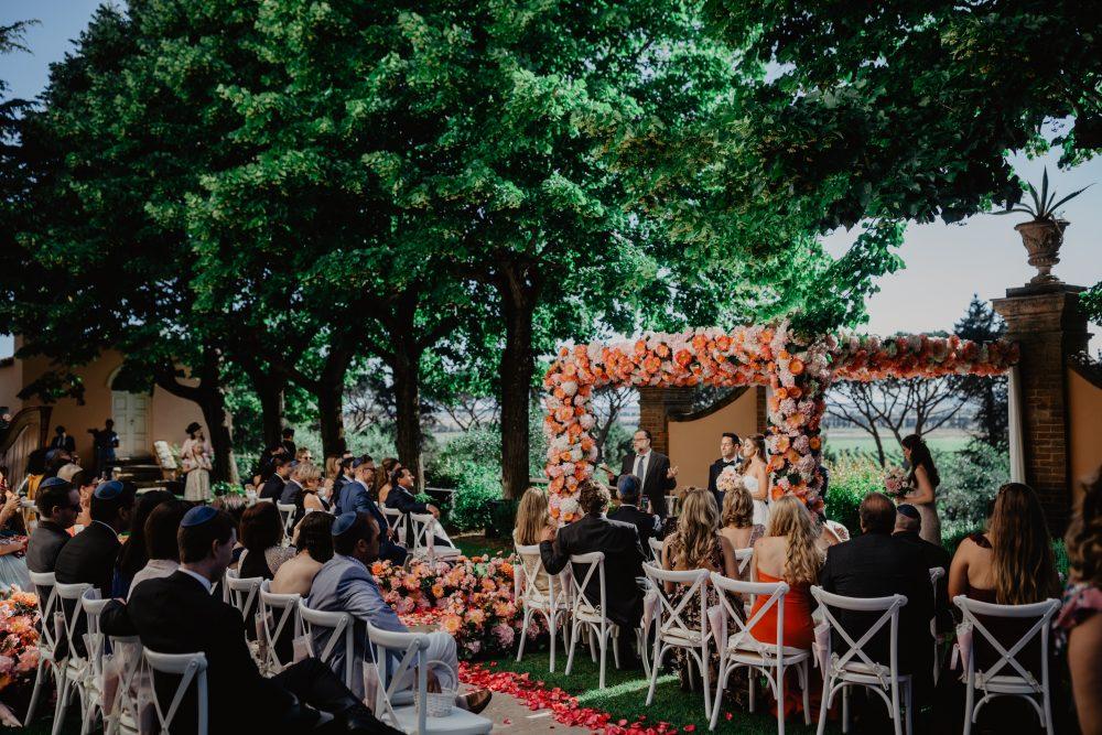 Luxury Jewish wedding ceremony in Tuscany
