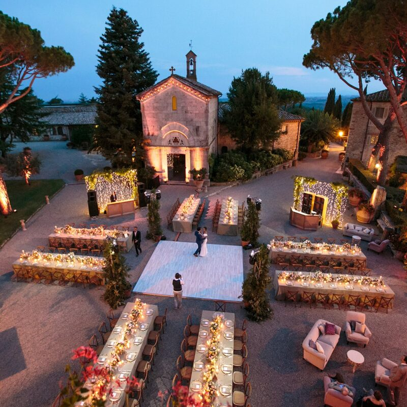 Exclusive and romantic italy wedding venue