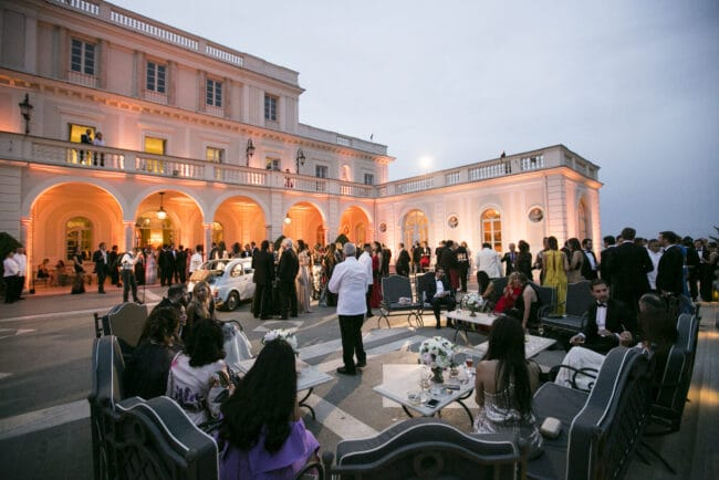 Wedding cocktail reception in an exclusive villa in Rome