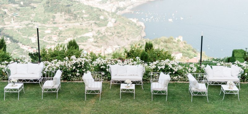 Garden with view for ceremony and wedding