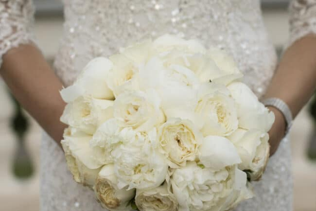 White wedding bouquet for a wedding in Rome