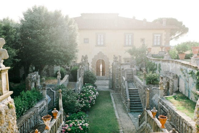 florence villa with view wedding