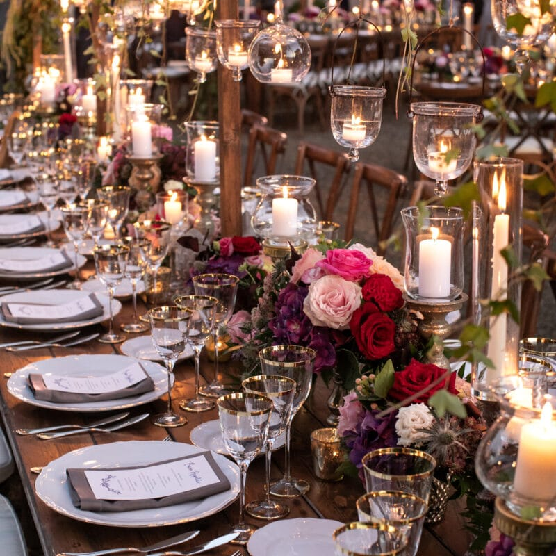 Lebanese decors on a wedding table
