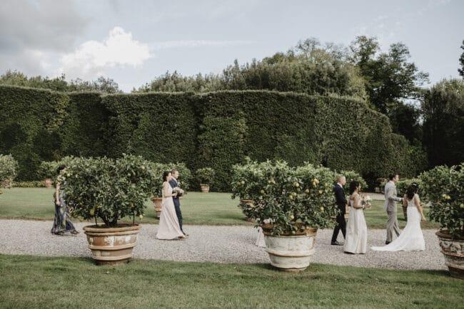 wedding villa lucca bride entrance