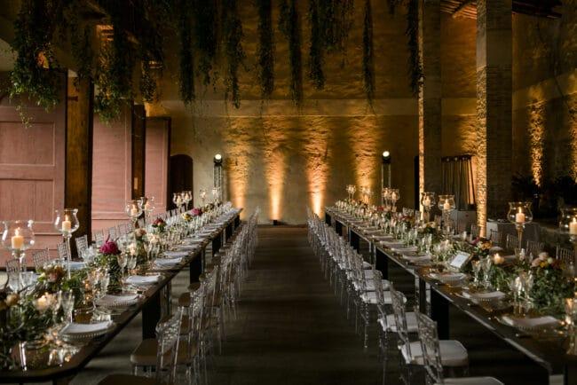 wedding villa in lucca dinner tables