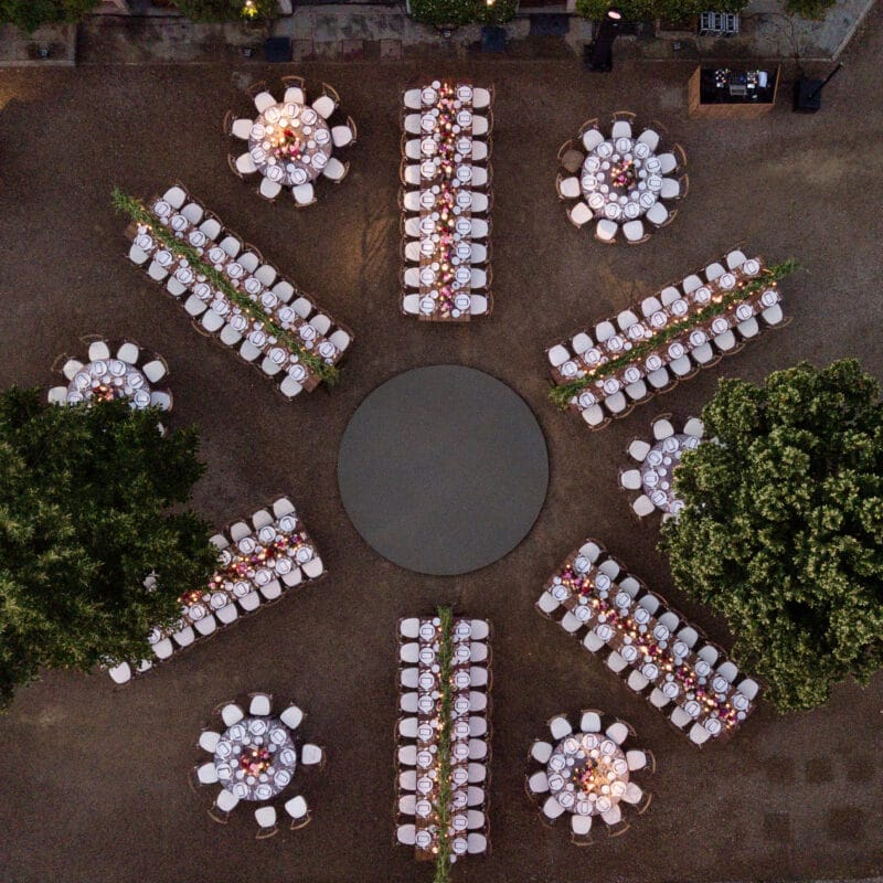 Top view of a Lebanese wedding villa