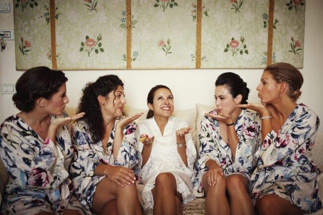 Elegant wedding party in Portofino
