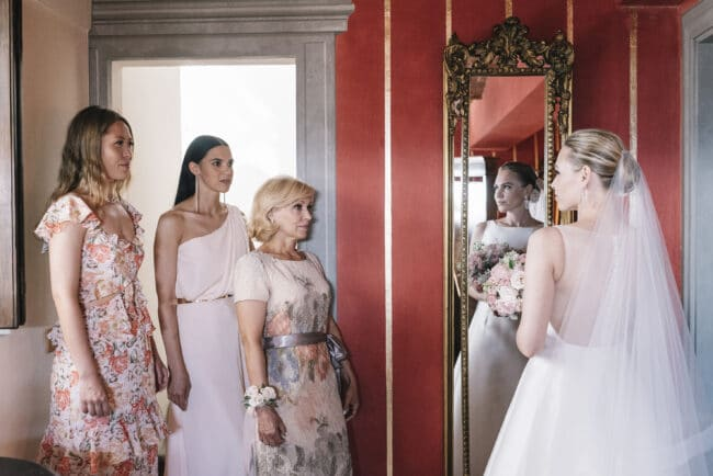 Intimate moments while the bride gets ready