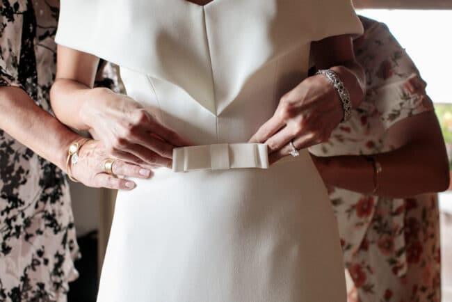 Bride jewish dress detail