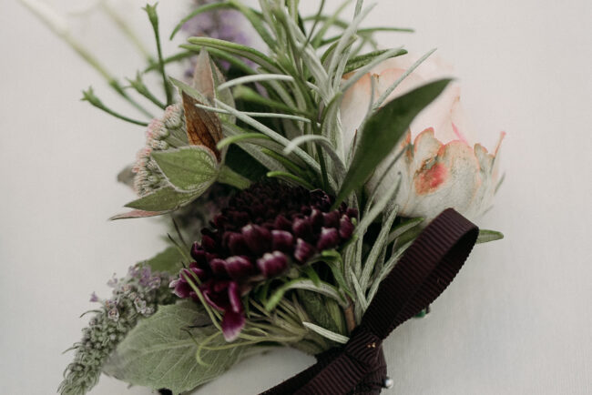 Buttonhole with rosemary