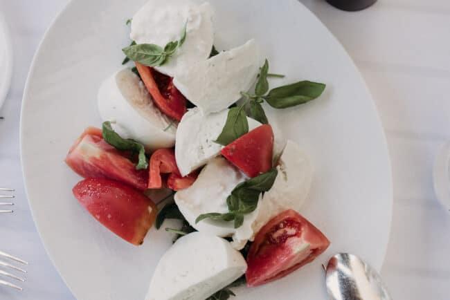 Typical caprese salad