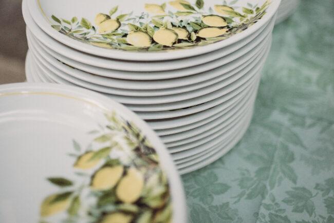 Capri style ceramics with lemon decors