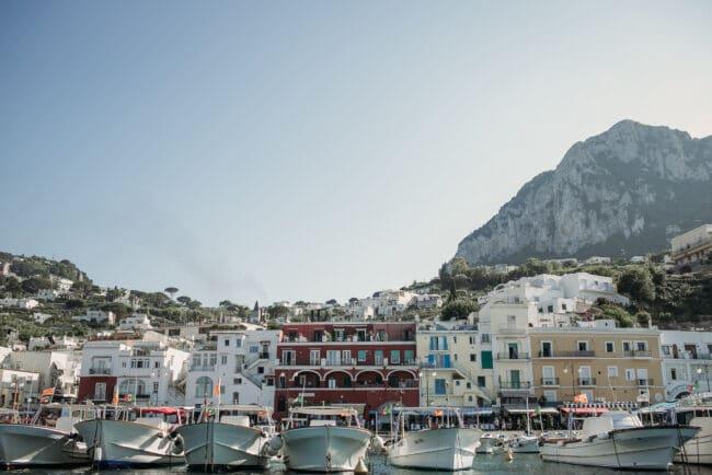 Marina Grande in Capri view from the boat