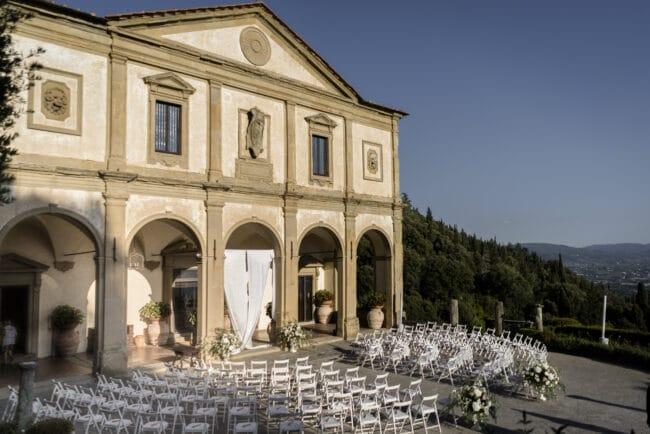 Luxury wedding ceremony venue in Italy