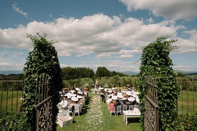 ceremony outdoor elegant villa in italy