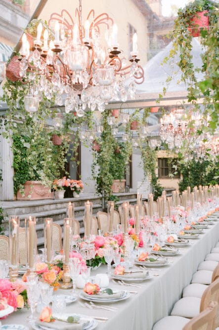 Luxury wedding decor for a wedding in Italy