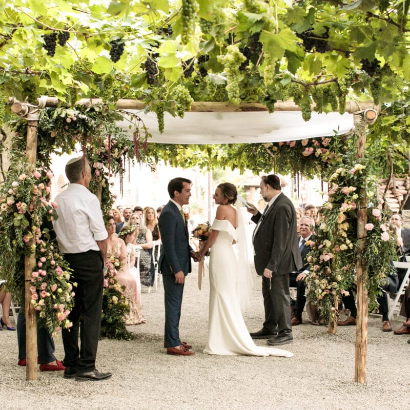 Wedding jewish ceremony romantic chuppah