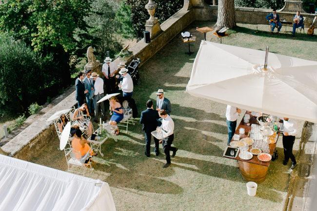 cocktail reception garden villa florence