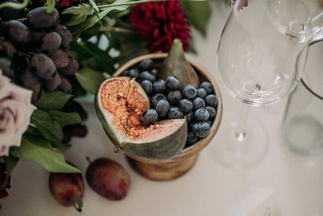 Fruits decor for a wedding in Capri