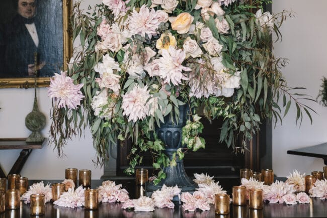 Flowers decors for an elegant wedding in Florence