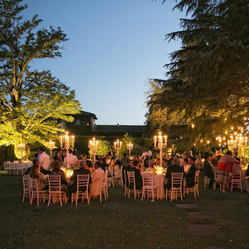 dinner garden italy wedding elegant