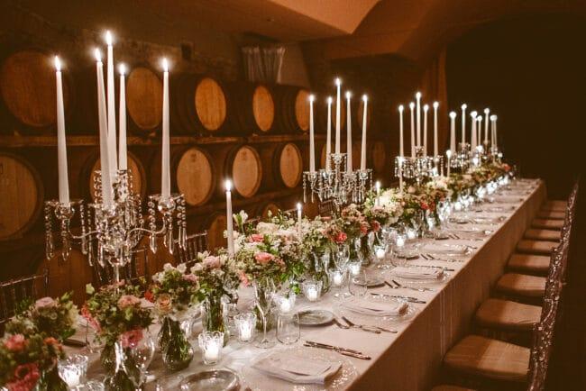 dinner table wedding winecellar italy