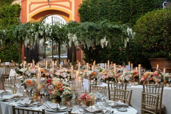 Secret garden style decor in a villa in Tuscany