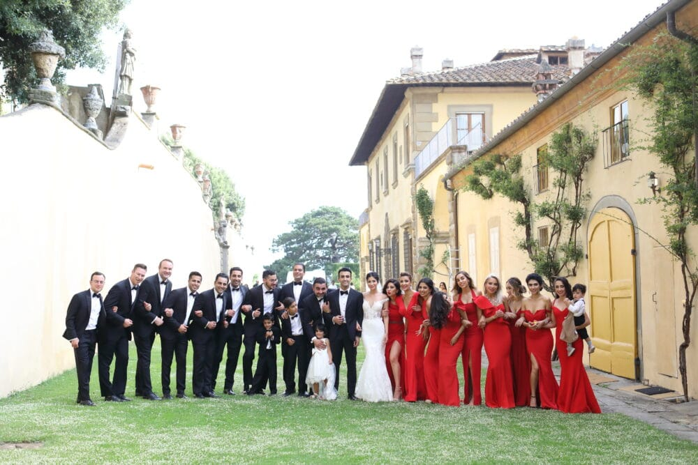 elegant wedding florence villa