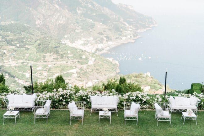 Garden with view for weddings in Ravello