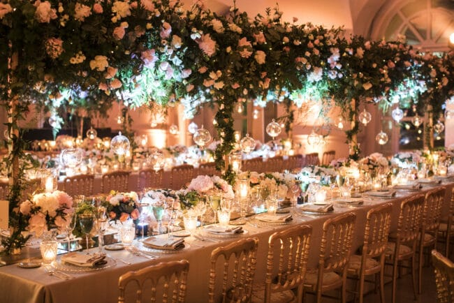 Exclusive wedding table for a lebanese wedding in Rome