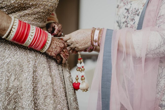 Indian wedding gowns detail