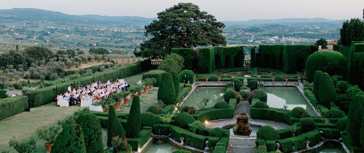 italian style garden wedding villa florence
