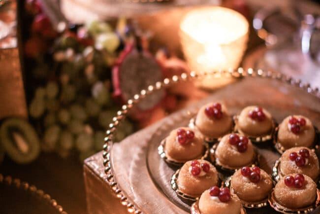Lebanese wedding dessert buffet