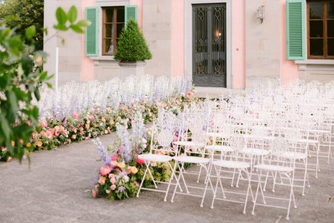 Villa exterior fittings for luxury ceremonies