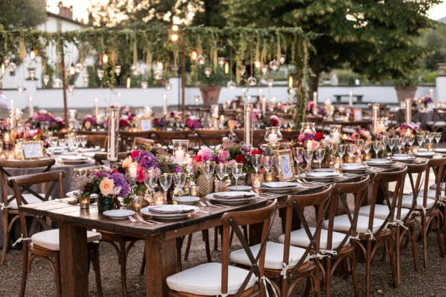 Luxury tables setting for a lebanese wedding