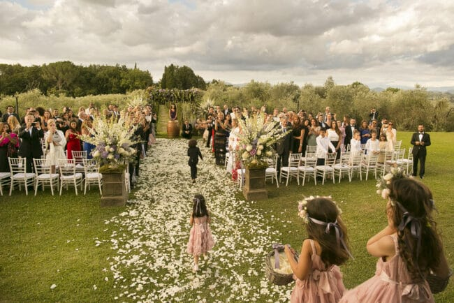 luxury wedding garden italy