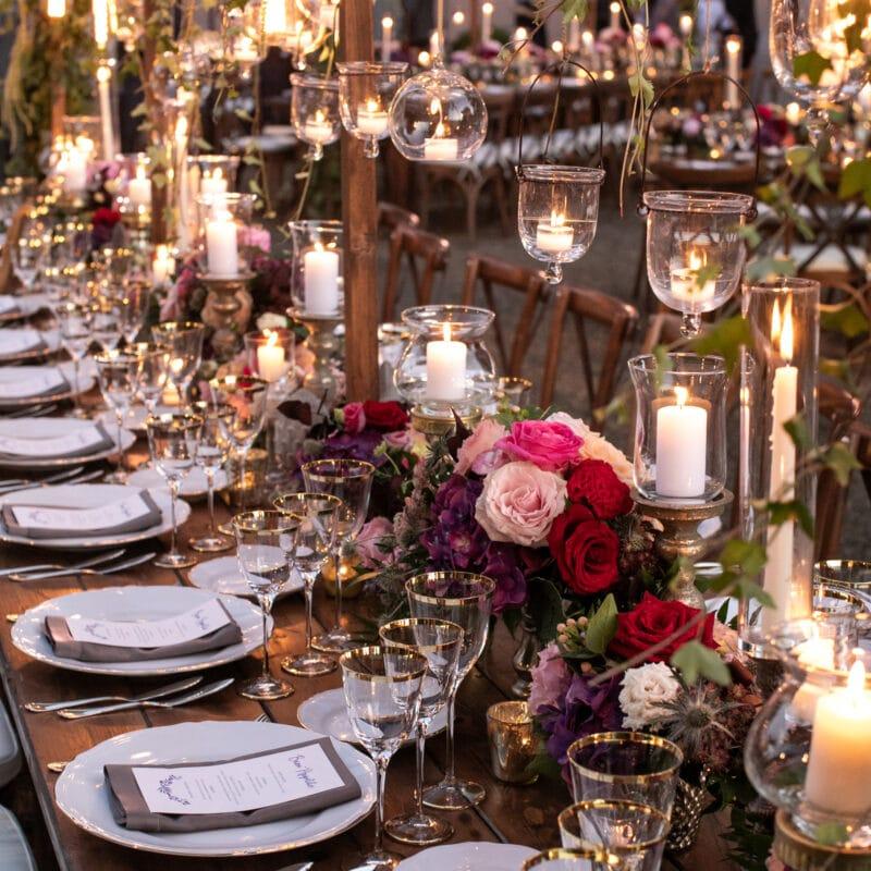 Luxury wedding table flower decor