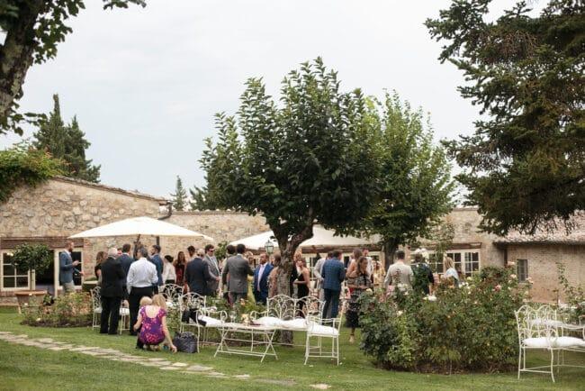 Modern jewish wedding reception