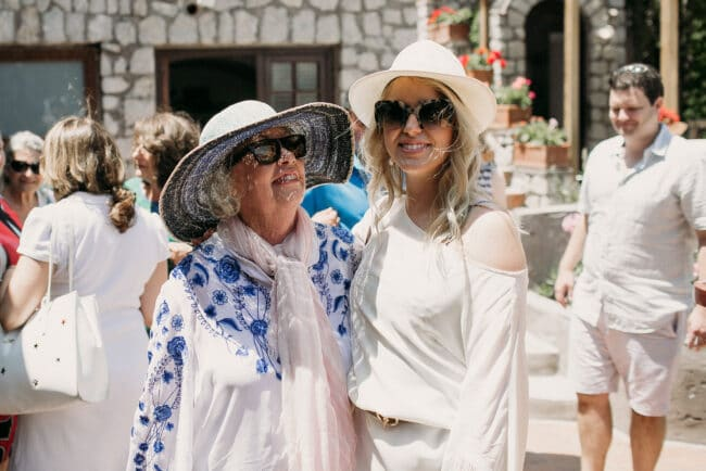 Mother of the bride and the bride in Capri