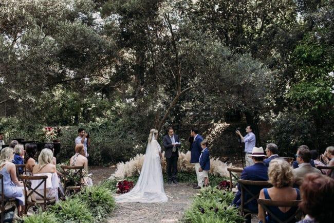 Outdoor wedding ceremony in Capri