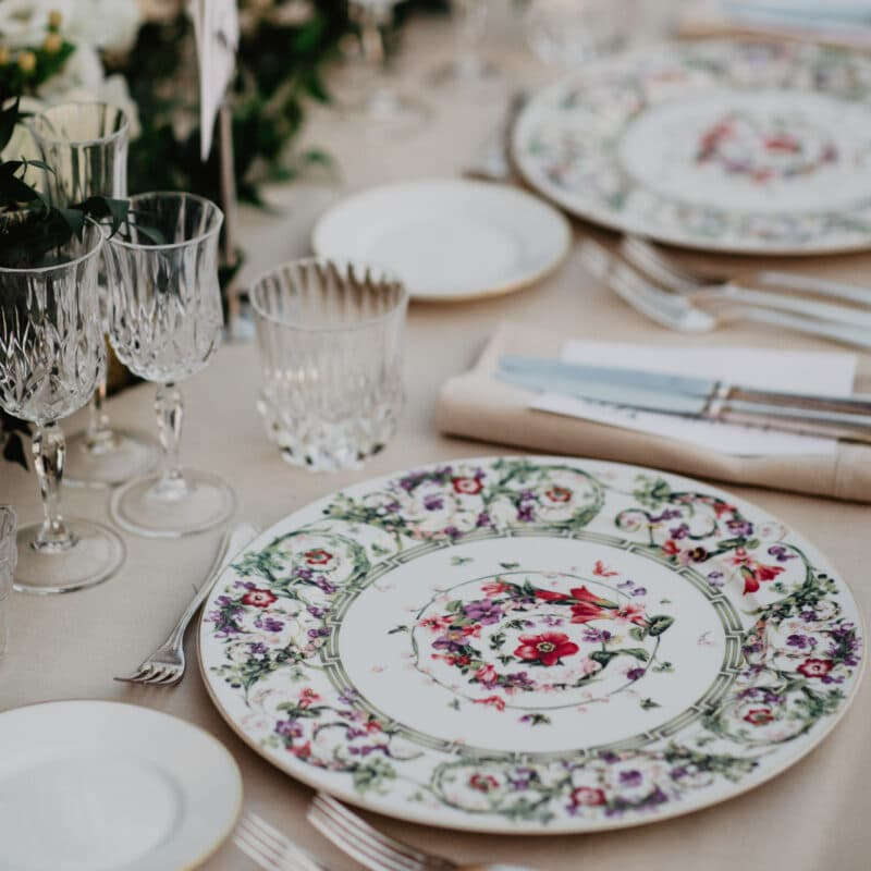 Persian Wedding in Italy wedding table details
