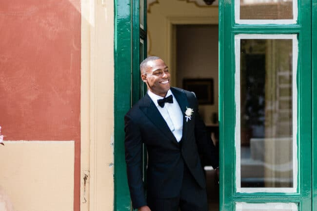 Beautiful groom picture in Ravello