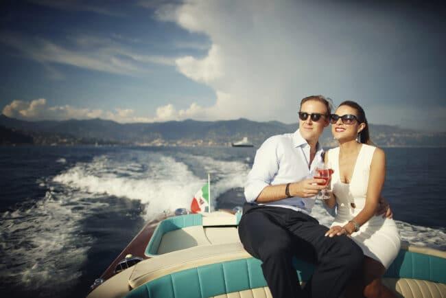 Welcome party with a Riva boat in Portofino