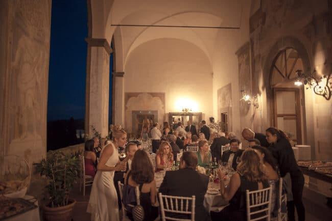 romantic elegant dinner wedding villa