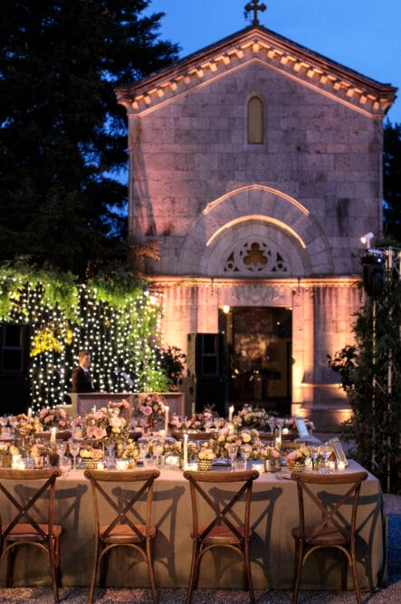 Romantic orthodox wedding dinner