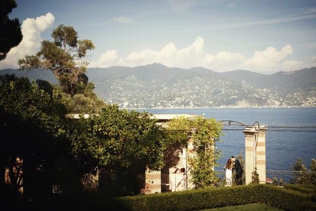 Romantic wedding venue with view in Portofino