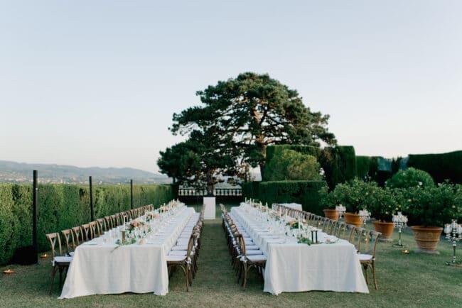 romantic wedding dinner florence