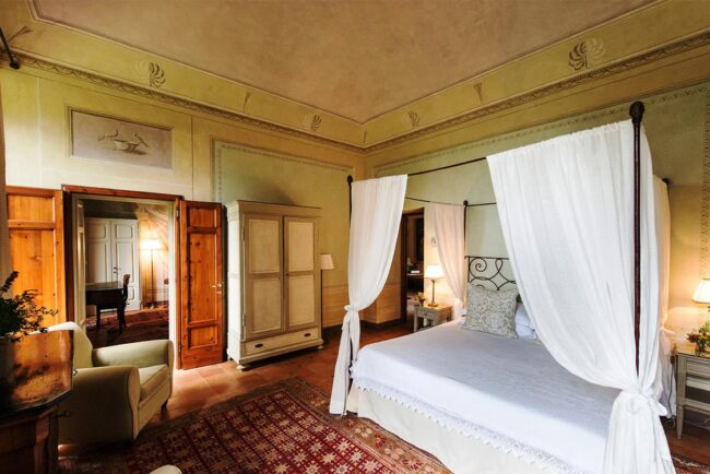 bedrooms details of a romantic wedding venue tuscany
