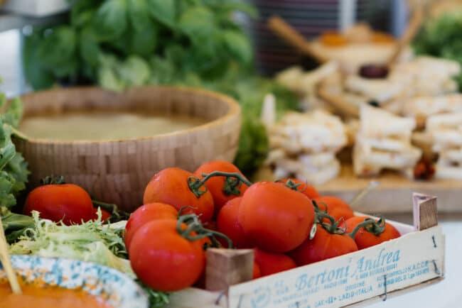 Vegetables buffet for a wedding brunch