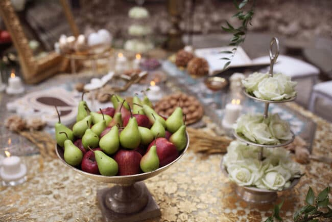 Sofreh table fruits
